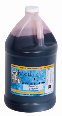 Paragon 6204 Motla Sugar-Free Sno Cone Syrup, Cherry One Gallon