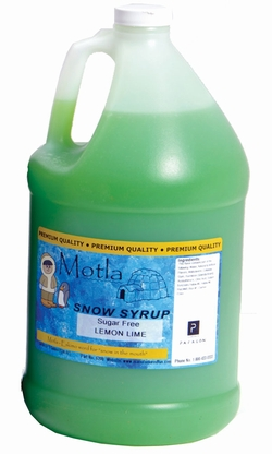 Paragon 6208 Motla Sugar-Free Sno Cone Syrup, Lemon Lime One Gallon