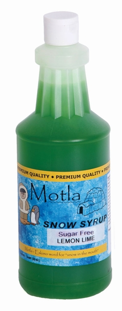 Paragon 6258 Motla Sugar-Free Sno Cone Syrup, Lemon Lime One Quart