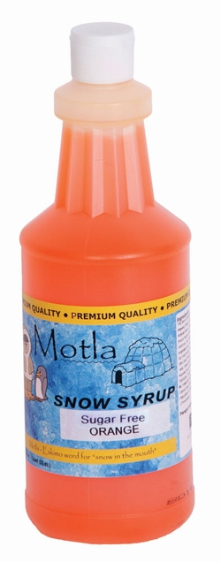 Paragon 6275 Motla Sugar-Free Sno Cone Syrup, Orange One Quart