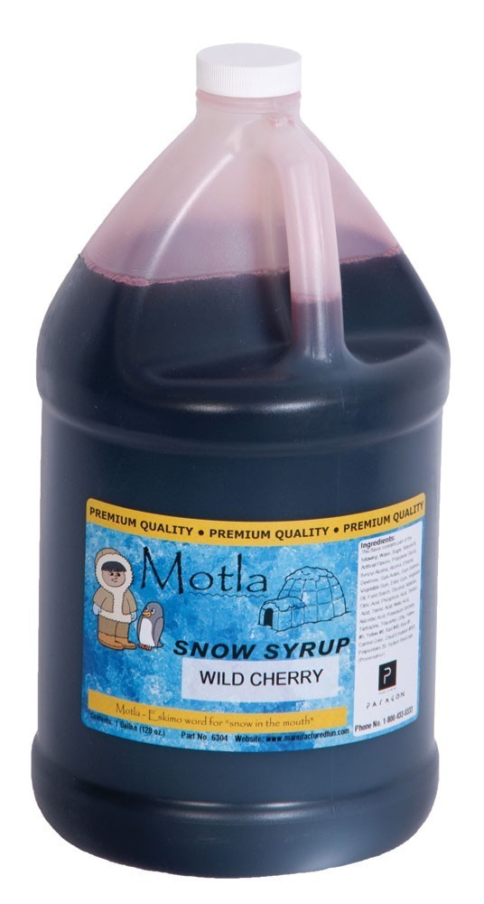 Paragon 6304 Motla Snow Cone Syrup Wild Cherry, One Gallon