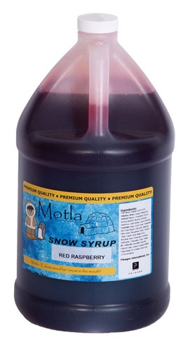 Paragon 6309 Motla Snow Cone Syrup Red Raspberry, One Gallon