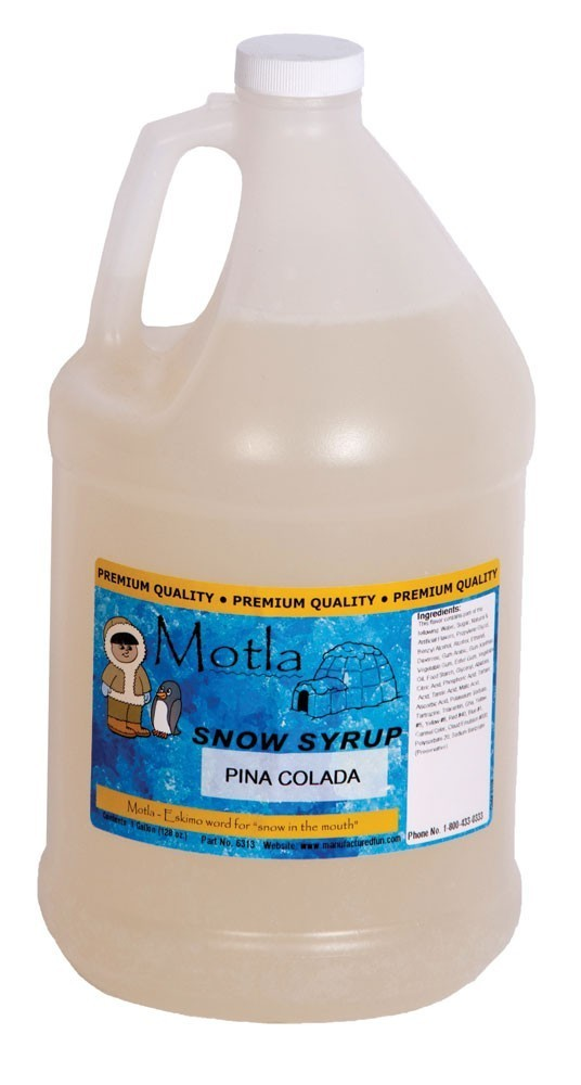 Paragon 6313 Motla Snow Cone Syrup Pina Colada, One Gallon