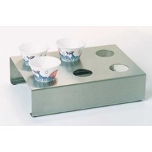 Paragon 6700 Sno Cone Holder, Stainless Steel