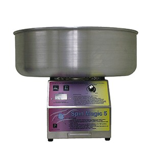 Cotton Candy Maker Winco CCM-28 1080W Show Time Electric Cotton Candy Machine With 20.5 Stainless Steel Bowl