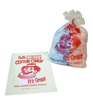 Paragon 7850 Cotton Candy Bags with Imprint - 1000 bags