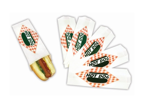 Paragon 8051 Hot Dog Standard Paper Bag - 5000 bags