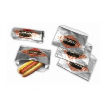 Paragon 8058SC Hot Dog Open Top Foil Bag - 250 bags