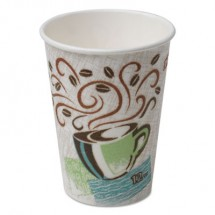 Dixie PerfecTouch Paper Hot Cups, 12  oz., Coffee Haze, 960/Carton