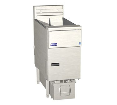 Pitco 1-SF-SE14SSTC-S Solstice Electric Fryer with SoloFilter Twin Tanks 50 Lb.