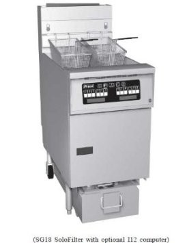 Pitco 1-SF-SG14RC-S Solstice Gas Fryer with SoloFilter High Power 50 Lb.