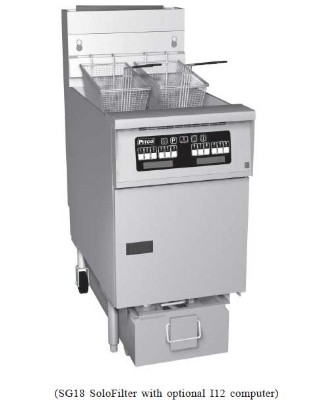 Pitco 1-SF-SG18D-S Solstice Gas Fryer with SoloFilter 70 - 90 Lb.