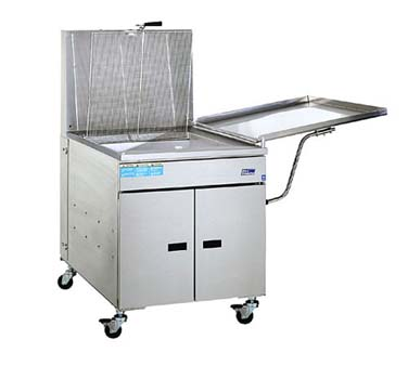 Pitco 24PSS Gas Donut Fryer 120 Lb. Oil Capacity 120,000 BTU with Solid State Thermostat