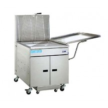 Pitco 24RUFMSS Gas Donut Fryer 117 Lb. Oil Capacity 72,000 BTU with Solid State Thermostat