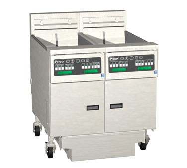 Pitco 3-SE14C Solstice Electric Fryer with Filter Drawer (3) 50 Lb.