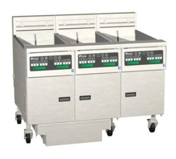 Pitco 3-SE18RD Solstice Electric Fryer with Filter Drawer (3) 70 - 90 Lb.