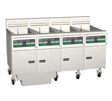 Pitco 4-SE14C Solstice Electric Fryer with Filter Drawer (4) 50 Lb.