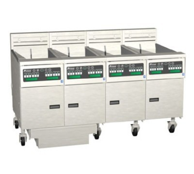 Pitco 4-SE14D Solstice Electric Fryer with Filter Drawer (4) 50 Lb.