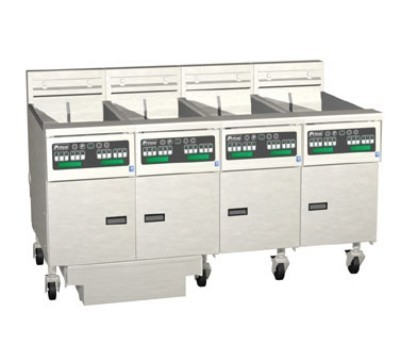 Pitco 4-SE18RSSTC Solstice Electric Fryer with Filter Drawer (4) 70 - 90 Lb.