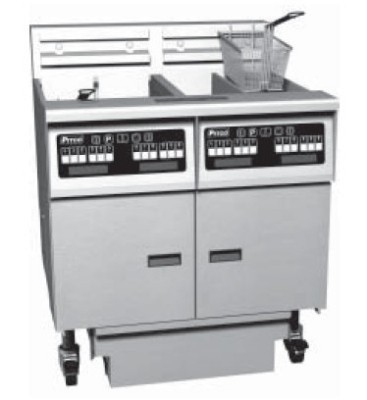 Pitco 6-SE14SSTC Solstice Electric Fryer with Filter Drawer (6) 50 Lb.