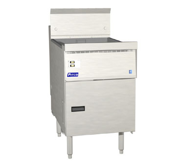 Pitco FBG18-SSTC Flat Bottom Fryer with Solid State Controls 65 Lb.