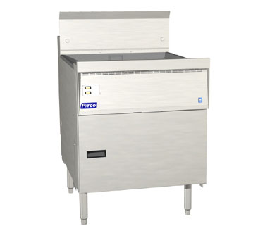 Pitco FBG24-SSTC Flat Bottom Fryer 87 Lb. with Solid State Controls