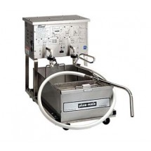 Pitco P14 Low-Profile Mobile Fryer Filter with Pump and Hose Assembly 50 Lb. Capacity