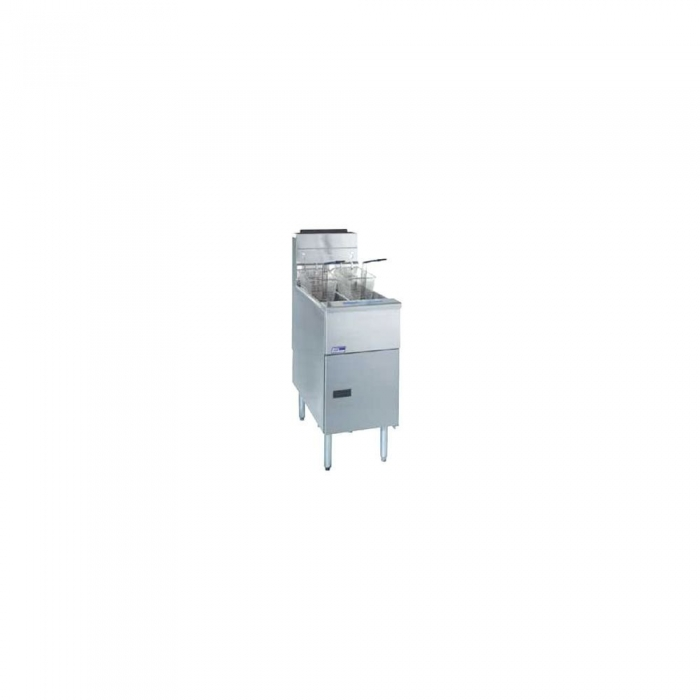 Pitco SG14TS-C Solstice Gas Fryer Twin Tank 20 - 25 Lb. with Intellifry Computer 50,000 BTU