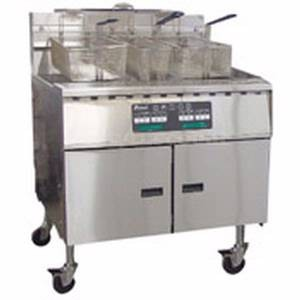 Pitco SGM18X24-SSTC Mega High Efficiency Gas Fryer with Solid State Control