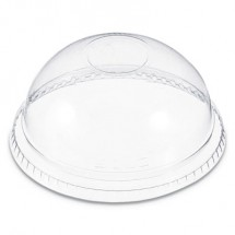Dart Plastic Dome Lid, No-Hole, Fits 9-22 oz. Cups, Clear, 100/Sleeve, 10 Sleeves/Carton
