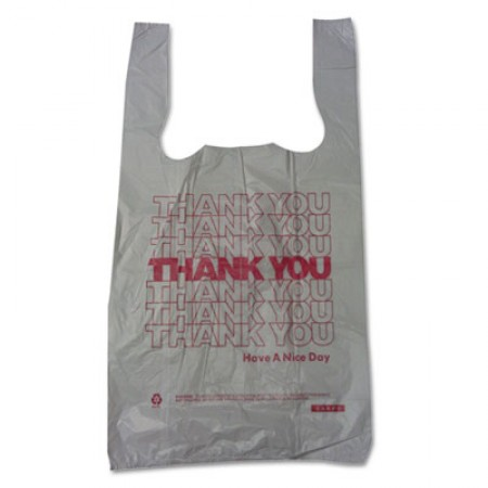 Plastic Thank-You T-Sack, 2 mil, 4
