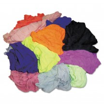 Hospeco New Colored Knit Polo T-Shirt Rags, Assorted Colors, 10 Lbs./Bag