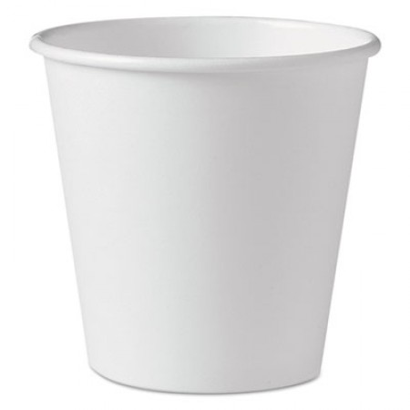 Dart Polycoated Hot Paper Cups, 10  oz., White, 1000/Carton
