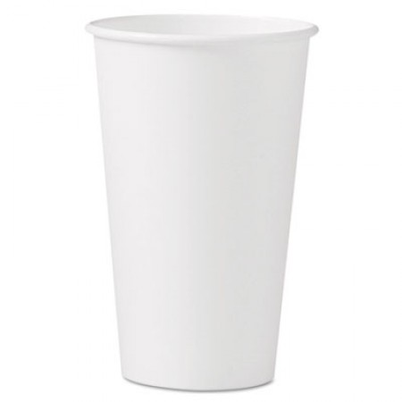 Dart  Polycoated Hot Paper Cups, 16  oz., White, 1000/Carton