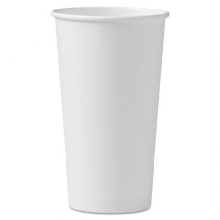 Dart Polycoated Hot Paper Cups, 20  oz., White, 600/Carton