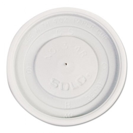 Dart Polystyrene Vented Hot Cup Lids, 4 oz. Cups, White, 1000/Carton