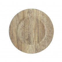"""The Jay Companies 1270279 Round Gray Poplar Charger Plate 13"""""""