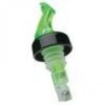 Precision Pours 114 SG C 1-1/4 Oz. Green Pourer with Collar - 1 doz