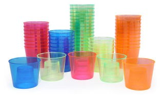 Precision Pours 4P002A Assorted Colored Power Bomb Cups - 400 pcs