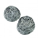 """Stainless Steel Scrubber, 2 1/2"""" x 2 3/47quot;, Steel Gray, 12/Carton"""