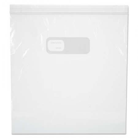 Reclosable Food Storage Bags, 1 gal, 2.7 mil, 10.5
