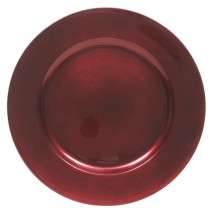 The Jay Companies 1421919BK-F Red Round Charger Plate 13""