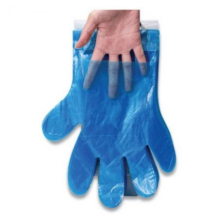 Reddi-To-Go Poly Gloves on Wicket, one Size, Clear, 8,000/Carton