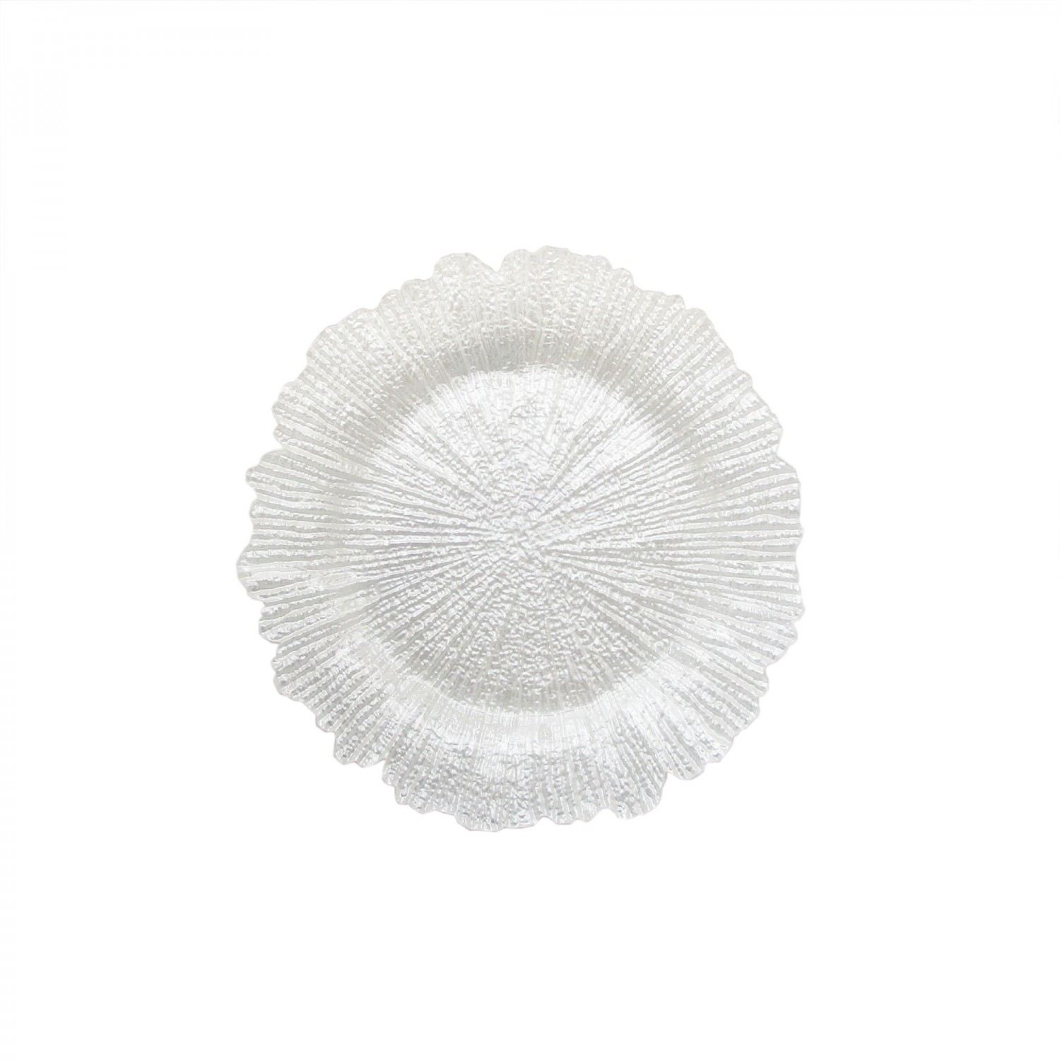 The Jay Companies 1470110-WH Reef White Glass Charger Plate 13""