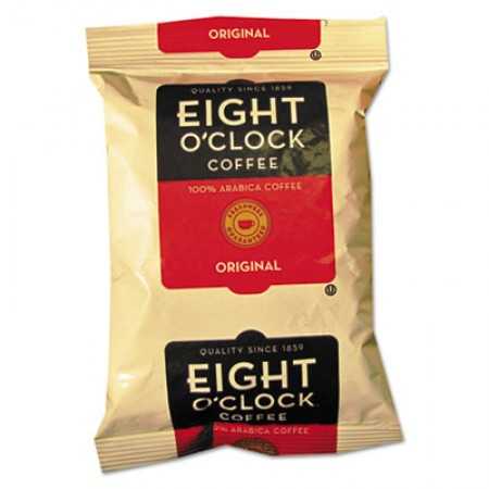 Eight O'Clock Regular Ground Coffee Fraction Packs, Original, 2 oz., 42/Carton