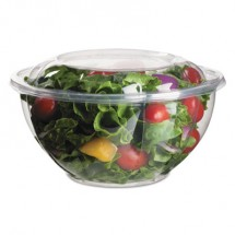 Eco-Products Renewable and Compostable Salad Bowls with Lids - 32 oz., 150/Carton