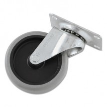 """Replacement Non-Marking Plate Caster, 4"""", Black/Gray"""