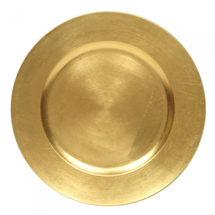 Round Acrylic Gold Charger Plate