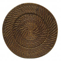 The Jay Companies 1660410P Round Brown Rattan Charger Plate 13""