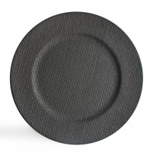 """Round Textured Ash Gray Charger Plate 13"""""""